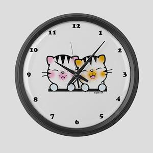 Happy Cats Large Wall Clock