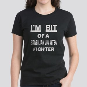 I am bit of a Brazilian Jiu-J Women's Dark T-Shirt