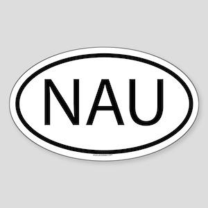 NAU Oval Sticker