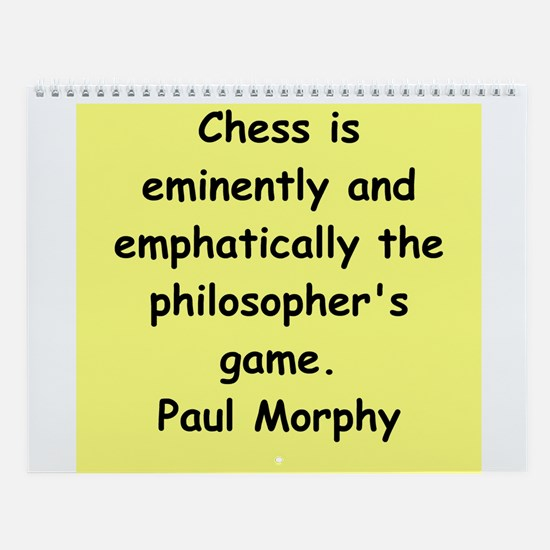 Great Chess Quotes Wall Calendar