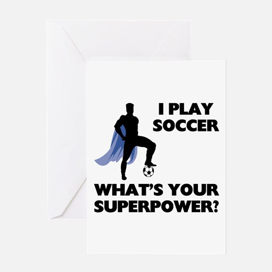 Soccer Superhero Greeting Card