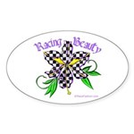 Racing Beauty Oval Sticker