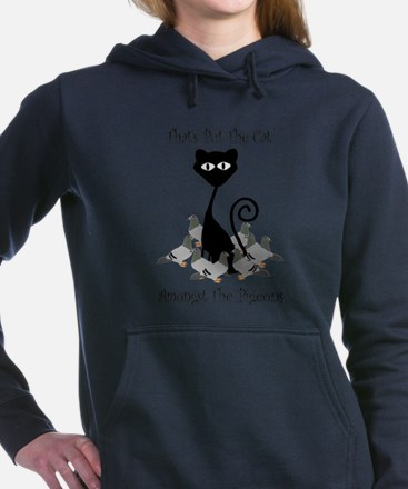 Cat Amoungst Pigeons Women's Hooded Sweatshirt