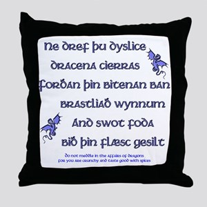 Beowulf's Dragons Throw Pillow