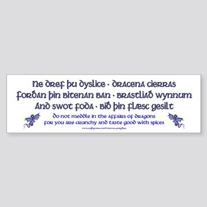 Beowulf's Dragons Bumper Sticker