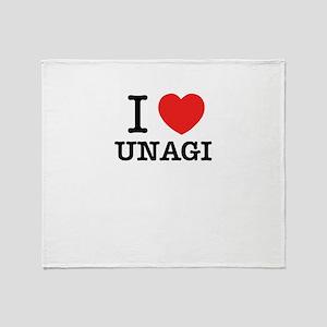 I Love UNAGI Throw Blanket