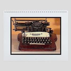 Vintage Typewriter Wall Calendar