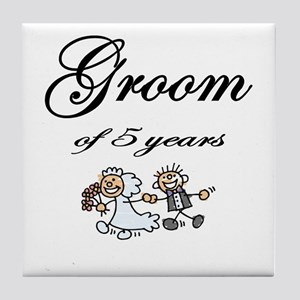 5th Wedding Anniversary Gifts Tile Coaster