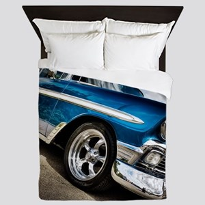 Retro car Queen Duvet