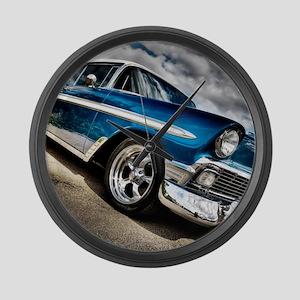 Retro car Large Wall Clock