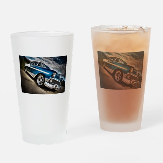 Retro car Drinking Glass
