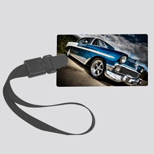 Retro car Large Luggage Tag