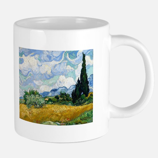 Van Gogh Wheat Field With Cypresses Mugs