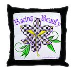 Racing Beauty Throw Pillow