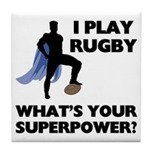 Rugby Superhero Tile Coaster