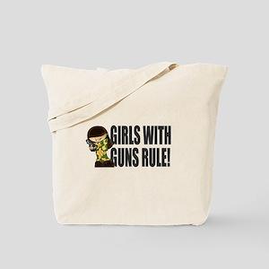 Girls With Guns Rule Tote Bag