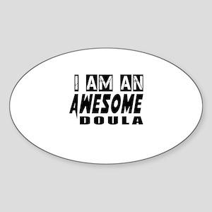 I Am Doula Sticker (Oval)