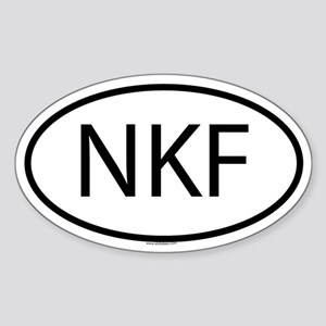 NKF Oval Sticker