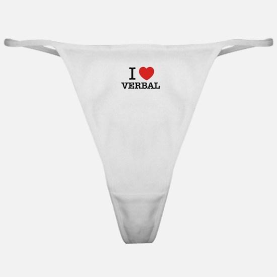 I Love VERBAL Classic Thong