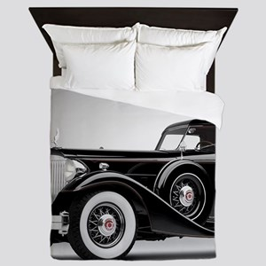 Vintage Retro Car Queen Duvet