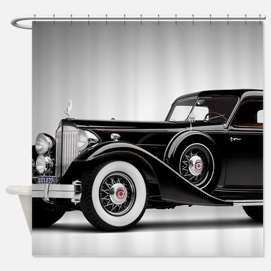 Vintage Retro Car Shower Curtain