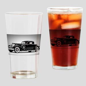 Vintage Retro Car Drinking Glass