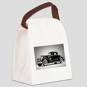 Vintage Retro Car Canvas Lunch Bag