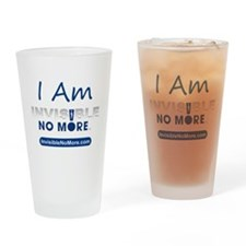 I Am Invisible No More Drinking Glass