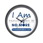 I Am Invisible No More Wall Clock