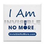 I Am Invisible No More Tile Coaster