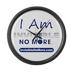 I Am Invisible No More Large Wall Clock
