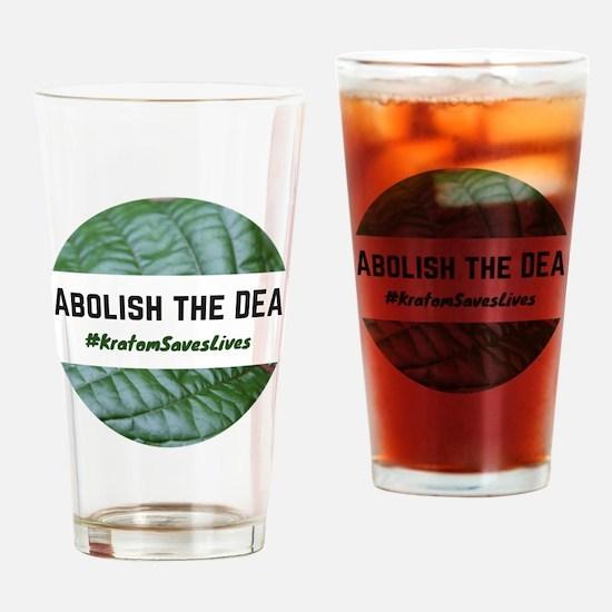 Cute Abolish Drinking Glass