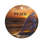 PEACE WHALE Ornament (Round)