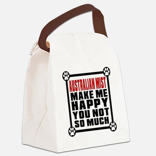 Australian Mist Cat Make Me Happy Canvas Lunch Bag