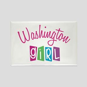 WASHINGTON GIRL! Rectangle Magnet (10 pack)
