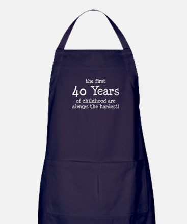 First 40 Years Childhood Apron (dark)