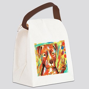 "Pitbull ""Peace"" Canvas Lunch Bag"