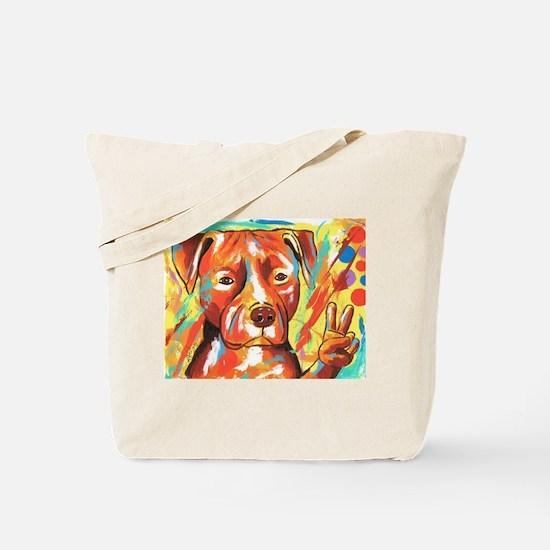 """Pitbull """"Peace"""" Tote Bag"""