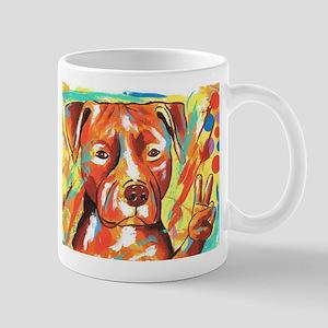 """Pitbull """"Peace"""" 11 oz Ceramic Mug"""