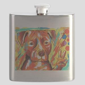 "Pitbull ""Peace"" Flask"