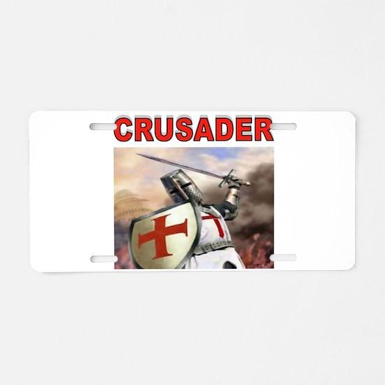 CRUSADER Aluminum License Plate