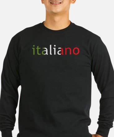 3-italiano for blk Long Sleeve T-Shirt