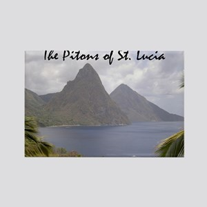 Pitons Of St. Lucia Rectangle Magnet Magnets