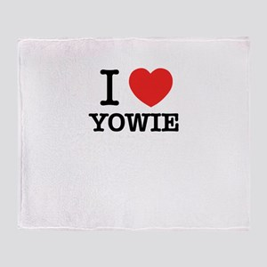 I Love YOWIE Throw Blanket
