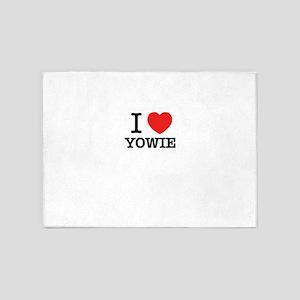 I Love YOWIE 5'x7'Area Rug
