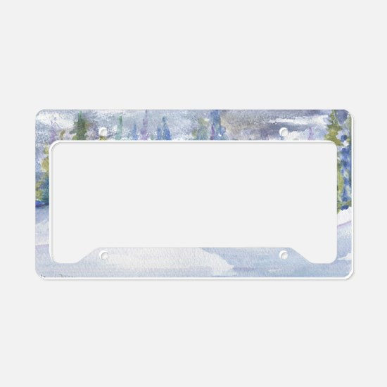 Cute Green ice License Plate Holder