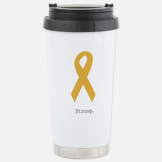 Gold. Strong Stainless Steel Travel Mug