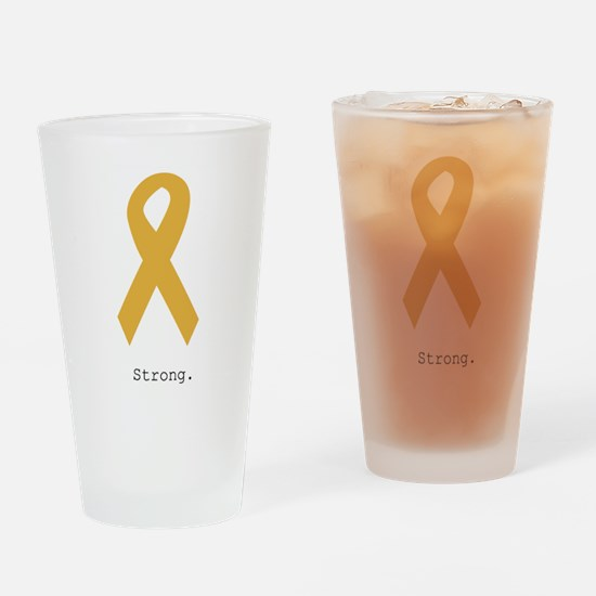 Gold. Strong Drinking Glass
