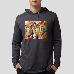 "Horse ""Peace"" Mens Hooded Shirt"
