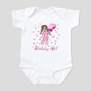 Girl Hearts Birthday Infant Bodysuit